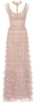 Valentino Sleeveless sequin-embellished dress