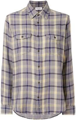 Saint Laurent oversized checked flannel shirt