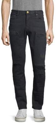 Scotch & Soda Patched Distressed Jeans