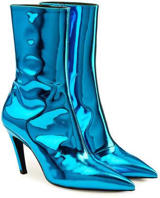 Balenciaga Talon Mirrored Leather Ankle Boots