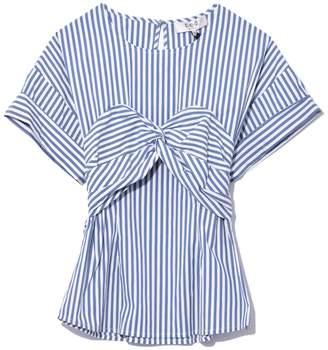 Sea Stripe Corset Tee in White/Blue Stripe