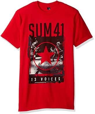 FEA Sum 41 Star 13 Voices Mens Soft T-Shirt