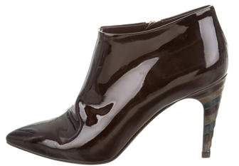 Louis Vuitton Patent Leather Pointed-Toe Ankle Boots