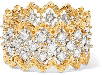 Buccellati Rombi 18-karat Yellow And White Gold Diamond Ring