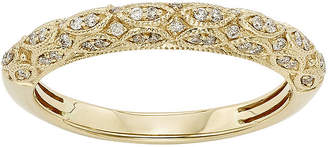 JCPenney MODERN BRIDE 1/5 CT. T.W. Certified Diamond 14K Yellow Gold Wedding Band