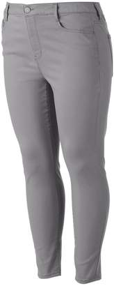 So Juniors' Plus Size SO Color High-Waist Ankle Jeggings