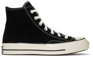 Converse Black Suede Chuck 70 High Sneakers