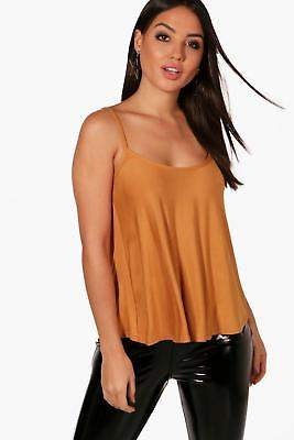 boohoo NEW Womens Basic Swing Cami in Polyester