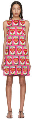 Dolce & Gabbana Pink A-Line Logo Amore Energy Dress