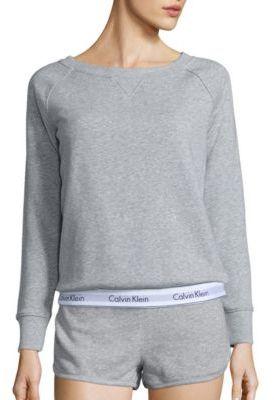 Calvin Klein Underwear Modern Cotton Blend Sweatshirt $68 thestylecure.com