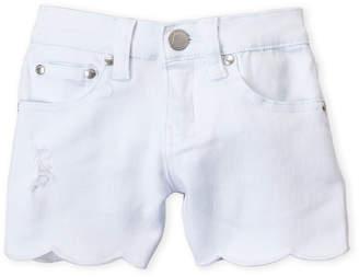 Pinc Premium Girls 7-16) White Scalloped Denim Shorts