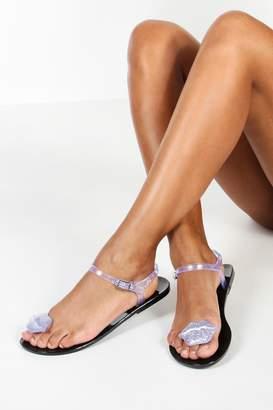 boohoo Lips Toe Post Jelly Sandals