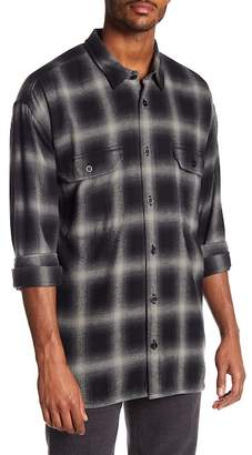 Vince Ombre Buffalo Plaid Trim Fit Shirt