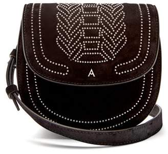 Altuzarra Ghianda Mini Stud Embellished Suede Bag - Womens - Black
