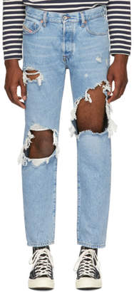 Diesel Blue Distressed Mharky Jeans