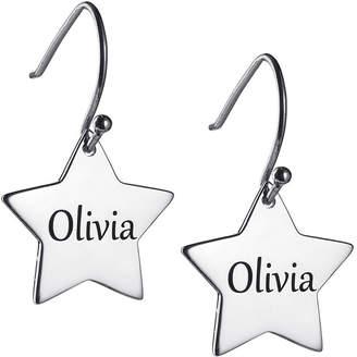 FINE JEWELRY Personalized Sterling Silver Star Drop Earrings
