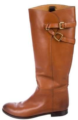 Ralph Lauren Leather Mid-Calf Boots