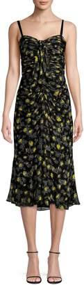 Cinq à Sept Margot Floral-Print Silk Dress