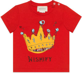 Gucci Wishify Crown Graphic Tee, Size 3-36 Months