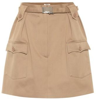 Miu Miu Cotton-twill miniskirt