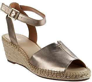Clarks Artisan Leather Espadrille Wedge Sandals- Petrina Selma