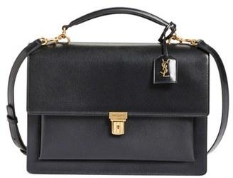Saint Laurent 'High School' Calfskin Leather Top Handle Satchel - Black $2,150 thestylecure.com