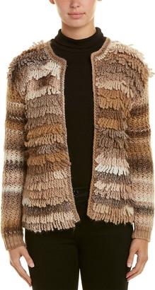 Trina Turk Shaggy 2 Wool Cardigan