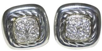David Yurman 18K Gold & 925 Sterling Silver Diamond Earrings