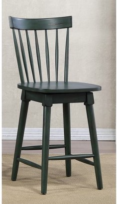 Unbrended Elise Counter Height Swivel Stool, Green