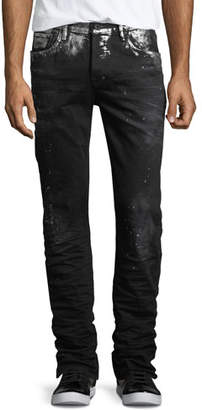 PRPS Demon Paint-Splatter Slim-Straight Jeans