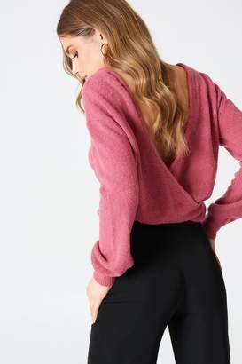NA-KD Na Kd Back Overlap Knitted Sweater
