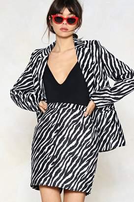 Nasty Gal Wild Streak Zebra Skirt