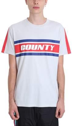 Marcelo Burlon County of Milan Color Band Grey Cotton T-shirt