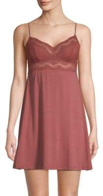 Eberjey Petunia Lace-Trimmed Chemise