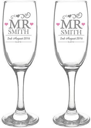 Personalised Mr & Mr Pair of Flutes