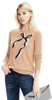 Italian Cashmere Blend Bow Crew Sweater $78 thestylecure.com