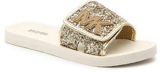 67f6a280610b MICHAEL Michael Kors Eli Glow Toddler   Youth Slide Sandal - Girl s