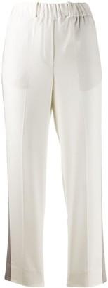 Incotex appliqué detail trousers