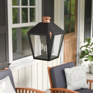 Darby Home Co Ibarra 3-Light Outdoor Hanging Lantern Darby Home Co
