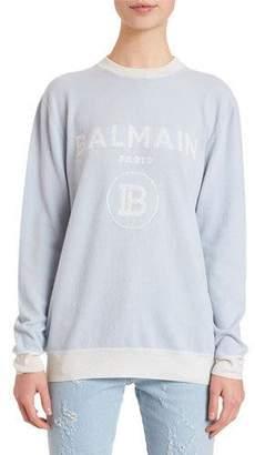 Balmain Wool-Cashmere Logo Sweater