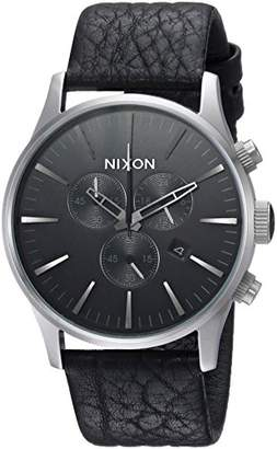 Nixon Men's 'Sentry Chrono' Quartz Stainless Steel and Leather Casual Watch