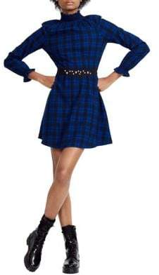 Maje Rivine Plaid Dress