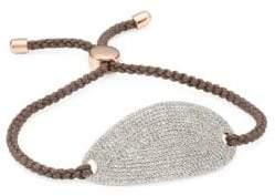 Monica Vinader Nura Diamond& 18K Rose-Gold Plated Friendship Bracelet