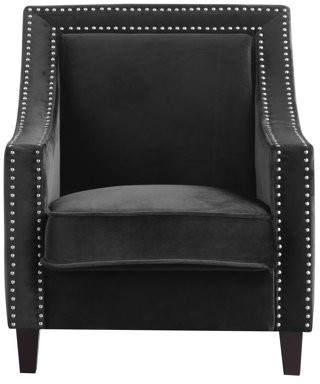 Chic Home Kameron Accent Club Chair Velvet Upholstered