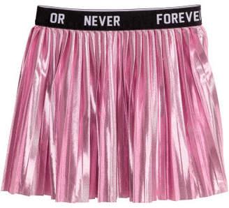 H&M Shimmering Metallic Skirt - Pink