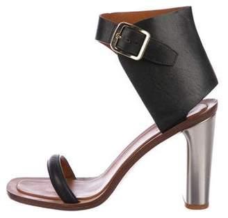 Celine Leather Ankle-Strap Sandals