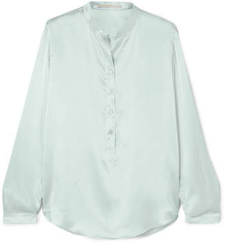 Stella McCartney Silk-satin Blouse - Green
