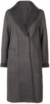 Akris Trace Reversible Shearling Coat