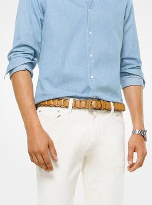 Michael Kors Braided Leather Belt