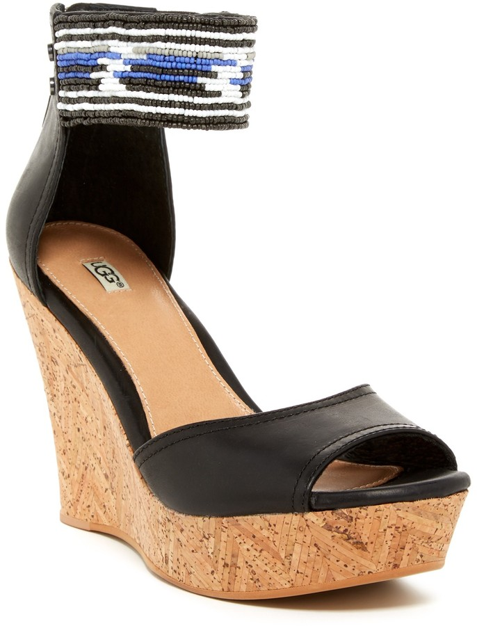 UGG UGG Australia Jacinda Beaded Wedge Sandal